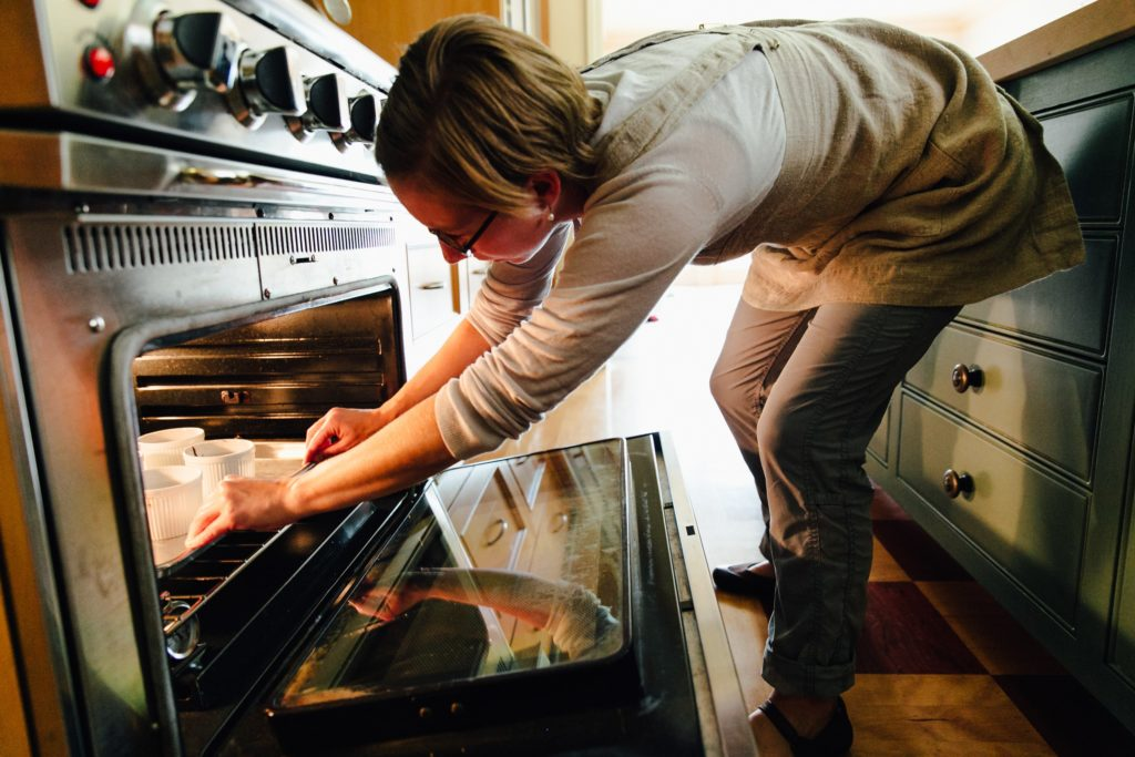 baking in electric oven